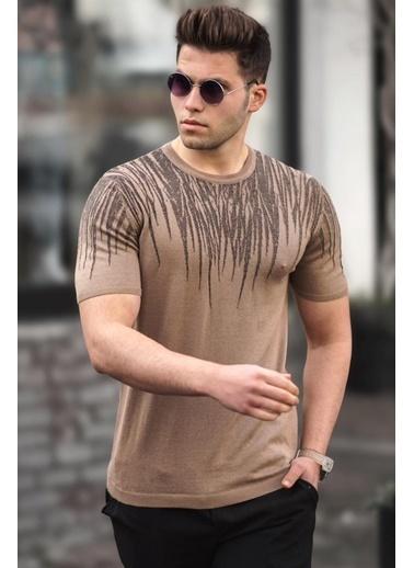 Madmext  Erkek  Triko Tişört 5100 Camel